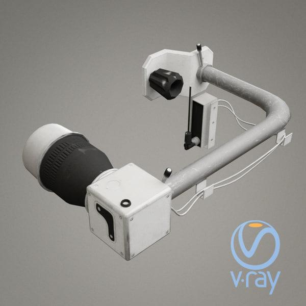 3D scifi camera mount model