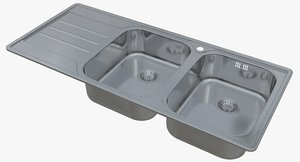 sink blanco median 8 3D