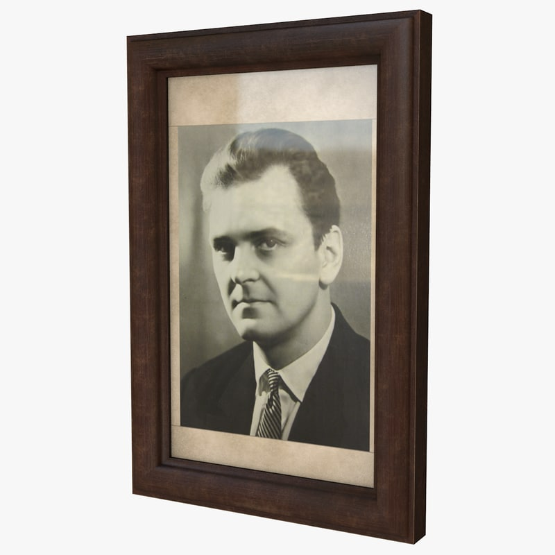 portrait frame 3D model