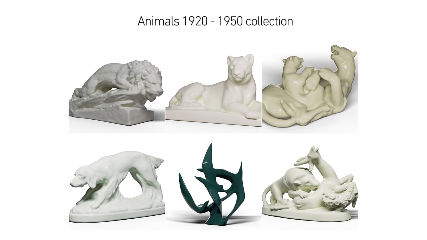 3D animals 1920 - 1950