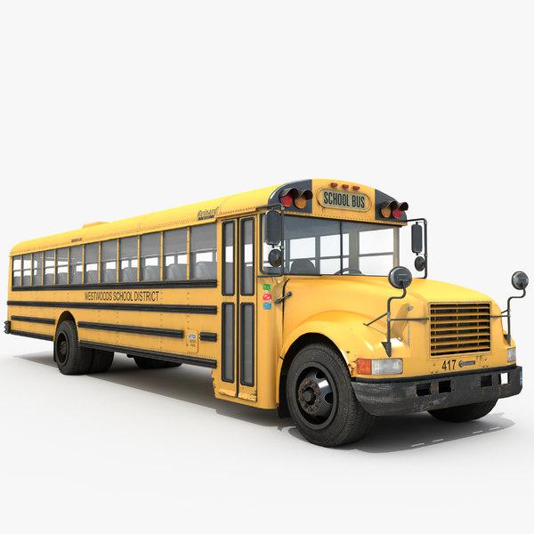 classic school bus 3D model