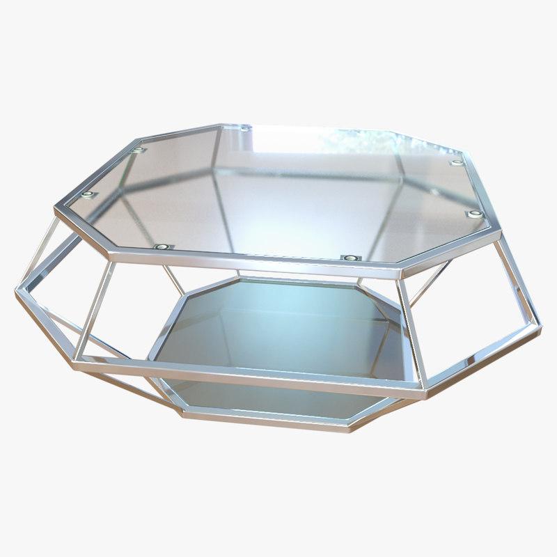 3D coffee table diamanto