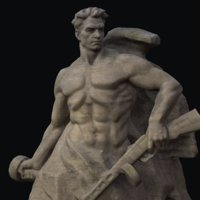3D sculpture warrior
