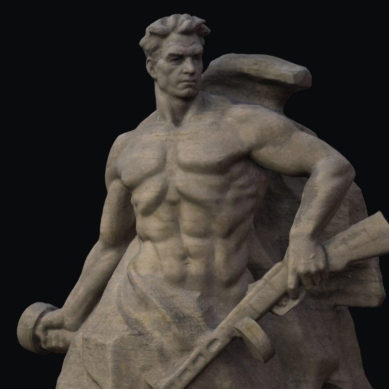 3D sculpture warrior