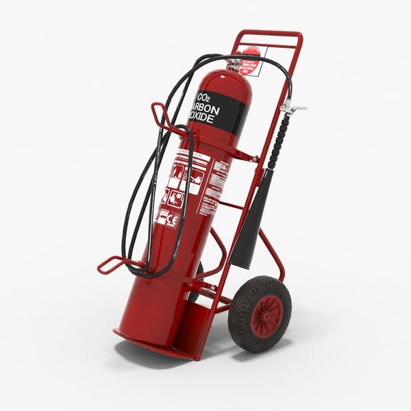 3D co2 extinguisher