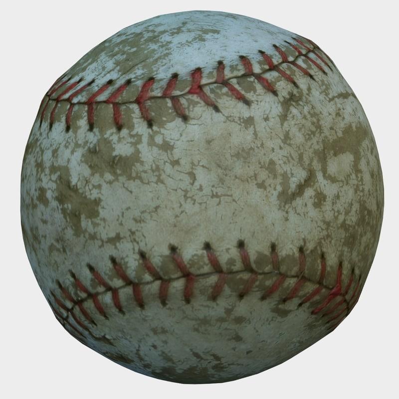 3D old baseball model