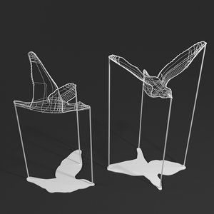 flight shadows decorative object 3D model