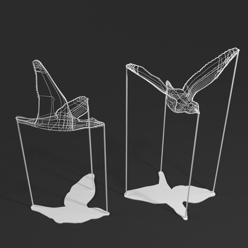 flight shadows decorative object 3D model