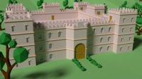 castle forest 3D model