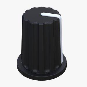 3D knob cap button v4