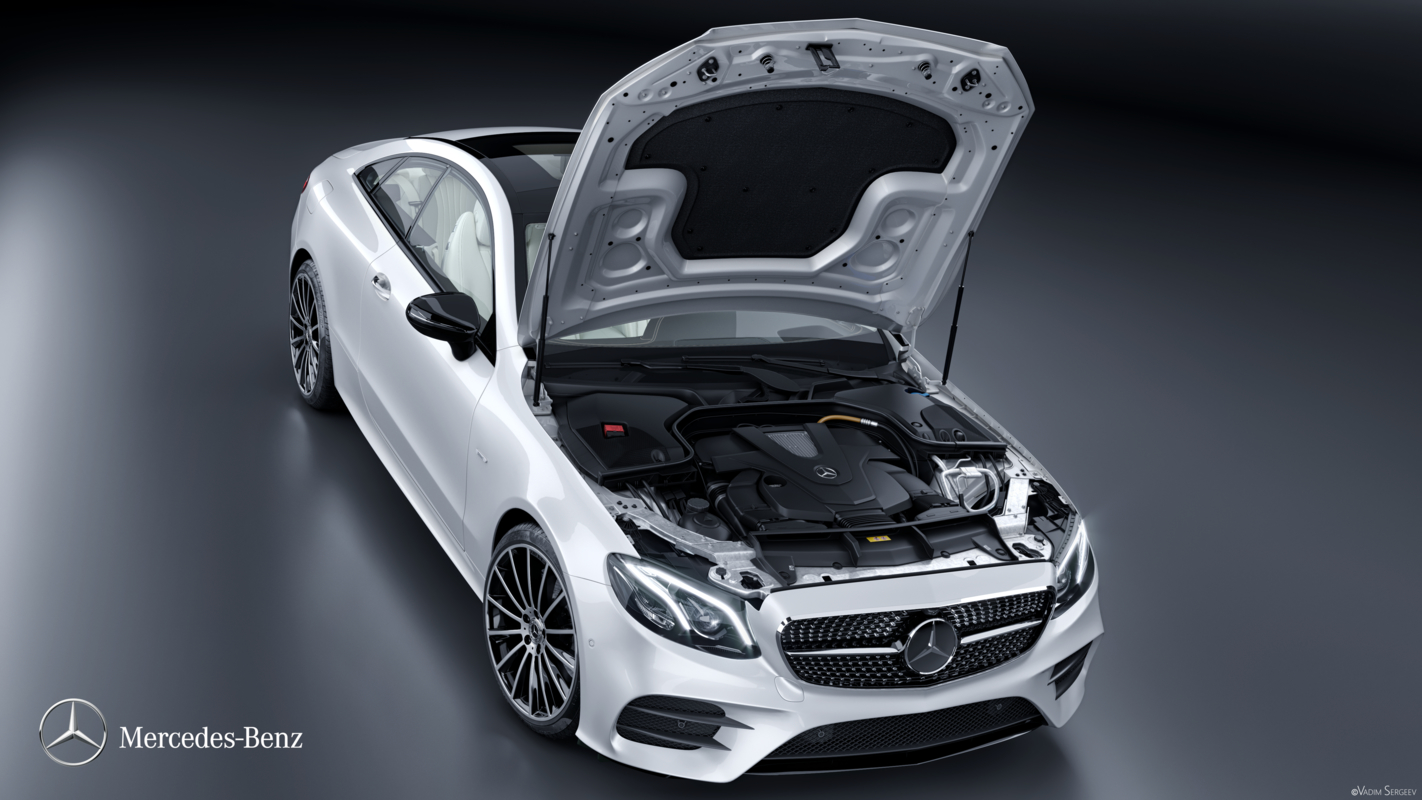 3D mercedes e400 coupe 2018