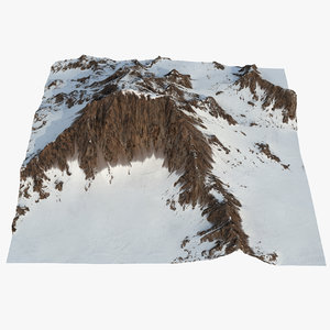mountain snow 2 3D model