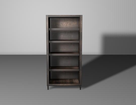 3D classic bookcase shelf bookshelf
