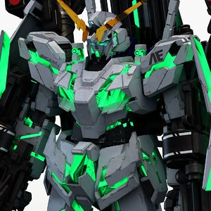 rx-0 armor unicorn gundam 3D