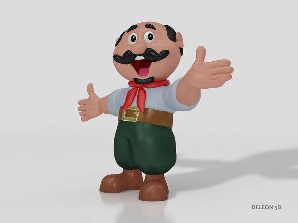 3D character gaucho