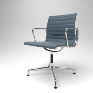 3D interior vitra aluminium chairs model