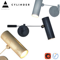 3D cylinder swing arm sconce