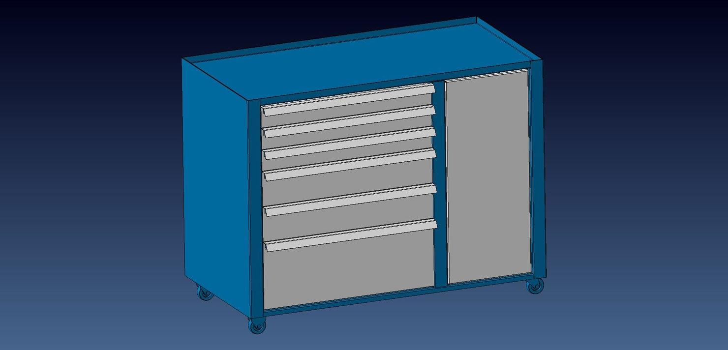 tool boxes 3D model