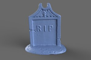 3D scan miniature tombstone