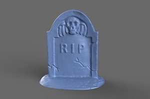 scan miniature tombstone model