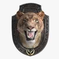 lion trophy 3D model