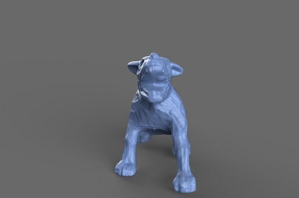 zombie dog miniature 3D model