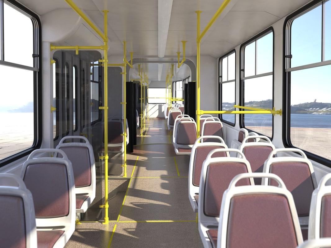 3D tram model