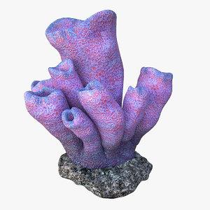 3D coral tube v2 model
