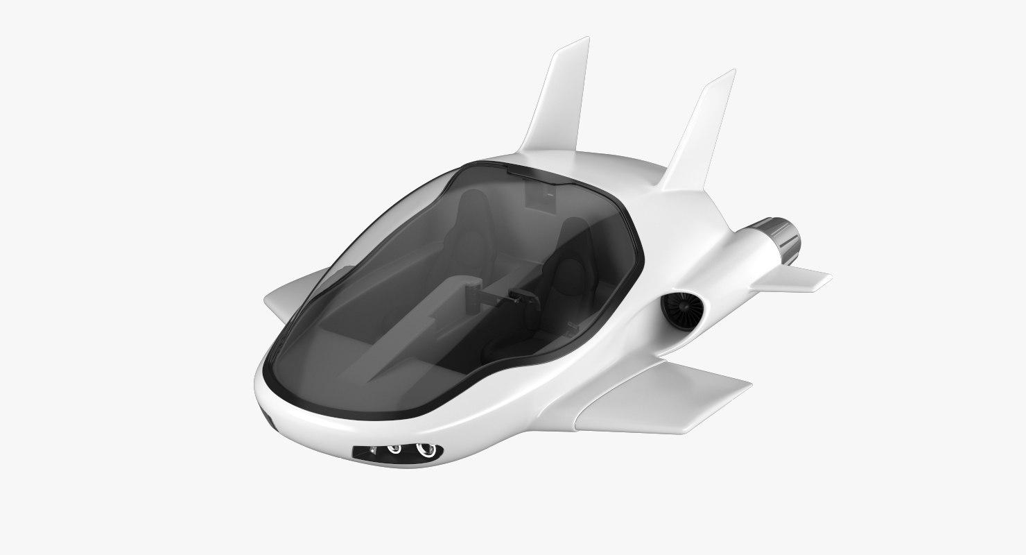 3D hover car concept