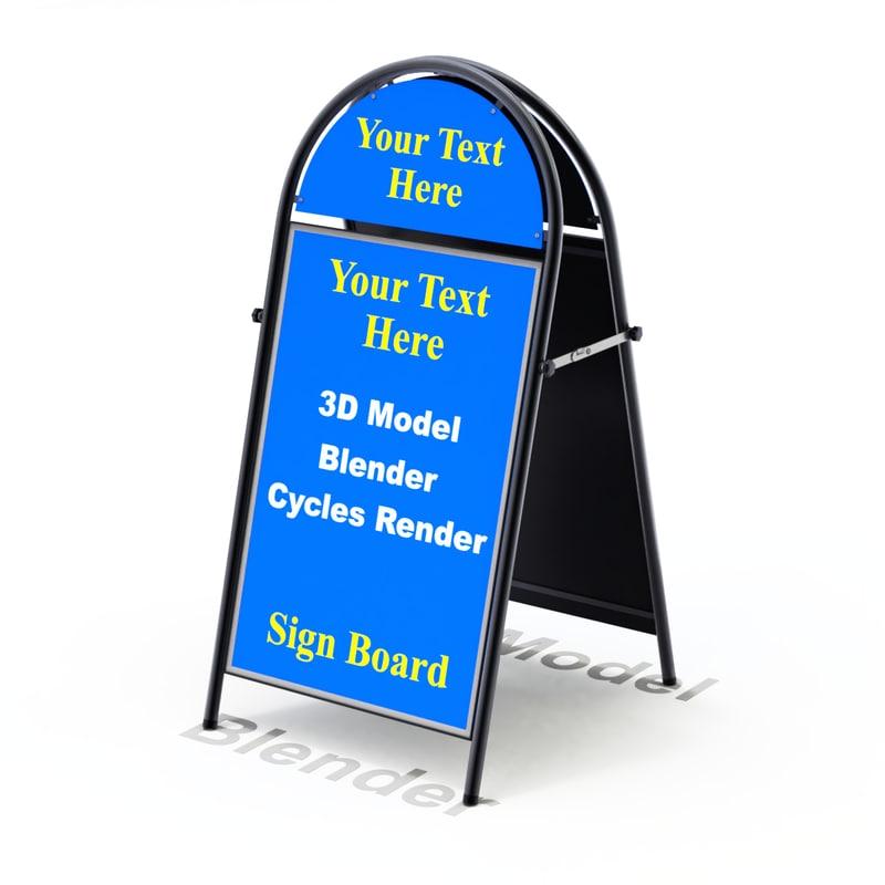 3D street sign model