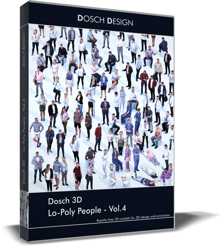 lo-poly people vol 4 3D model