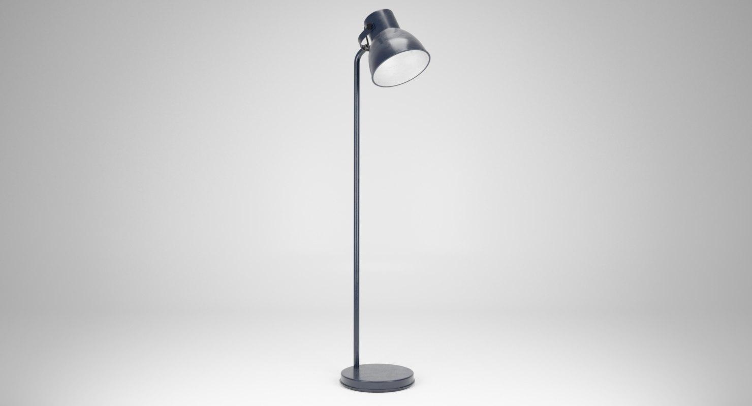 Ikea Hektar Floor Lamp 3d Model Turbosquid 1241932