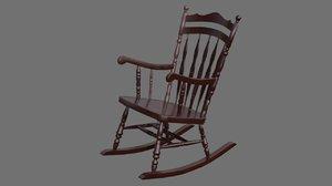 3D rocking chair 1a