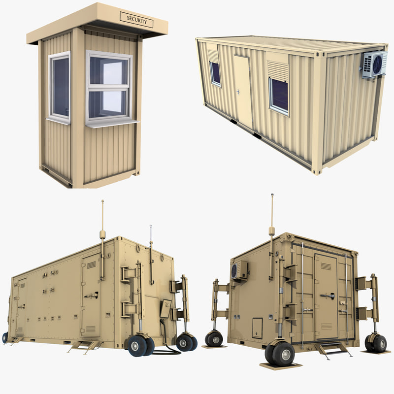 military containers 3D model