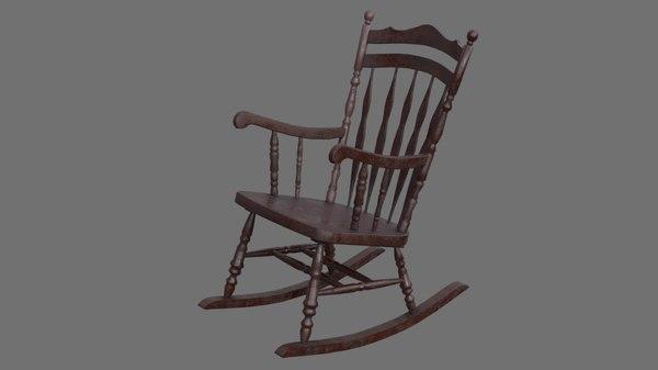 rocking chair 1b 3D model
