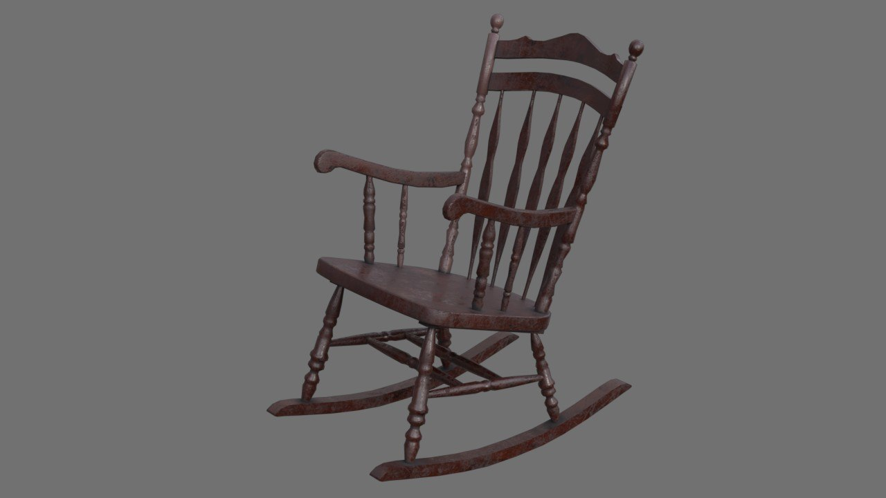 rocking chair 1b 3D model