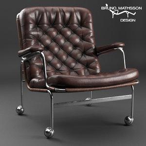 armchair karin bruno matsson 3D model