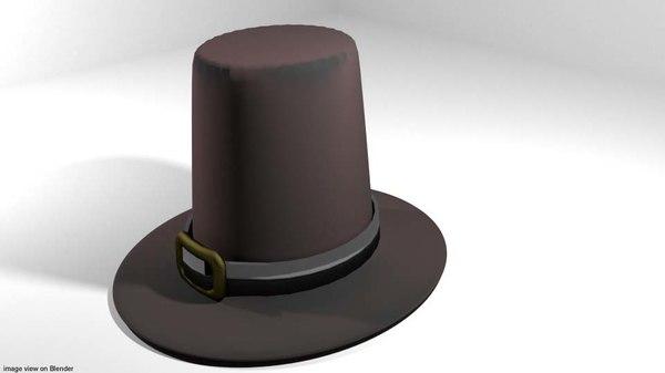 3D hat pilgrim
