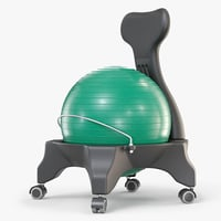 3D balance ball office chair