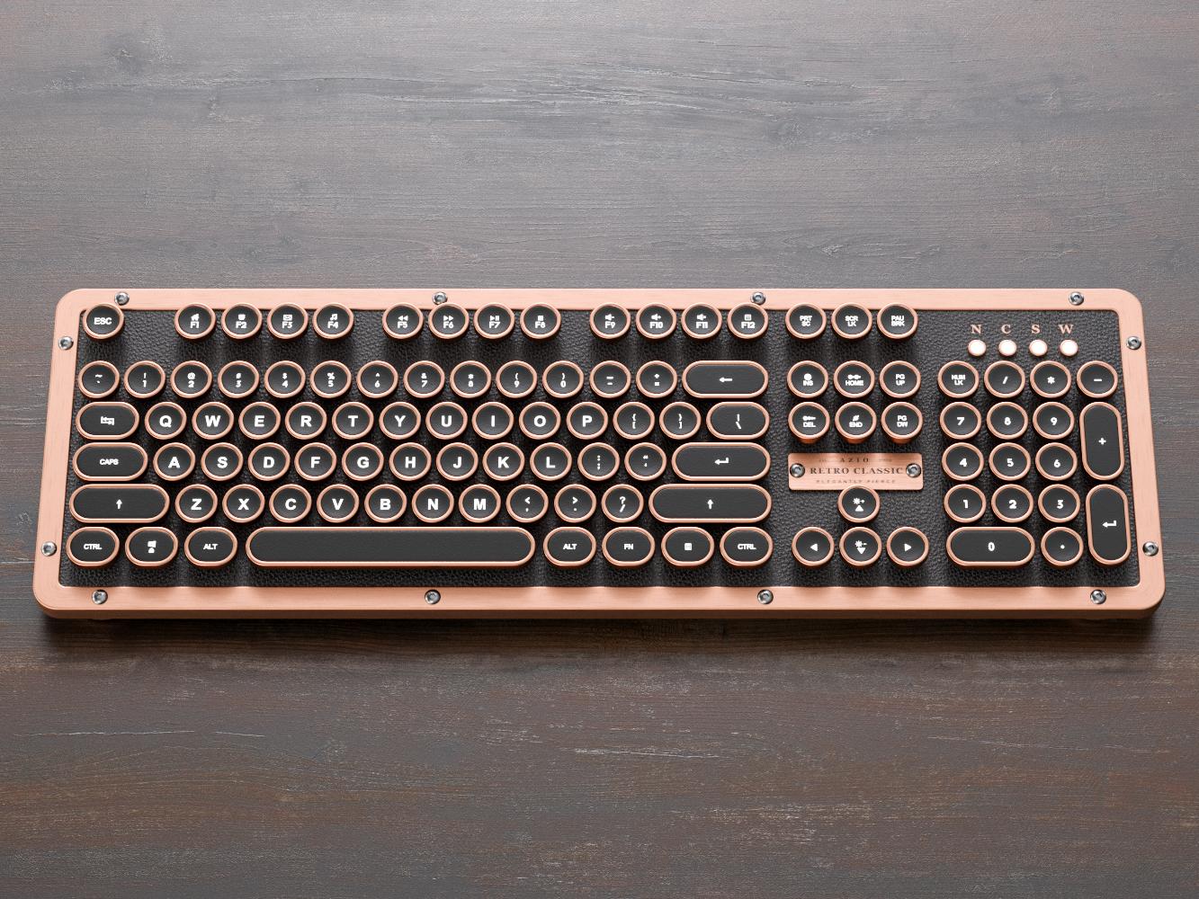 Azio Retro Classic Computer Keyboard