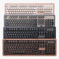 vintage computer keyboard azio 3D model