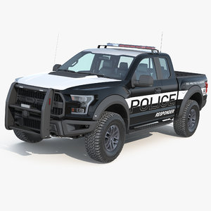 3D f150 raptor police interceptor model