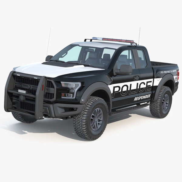 3D f150 raptor police interceptor model