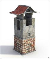 chimney old 3D model