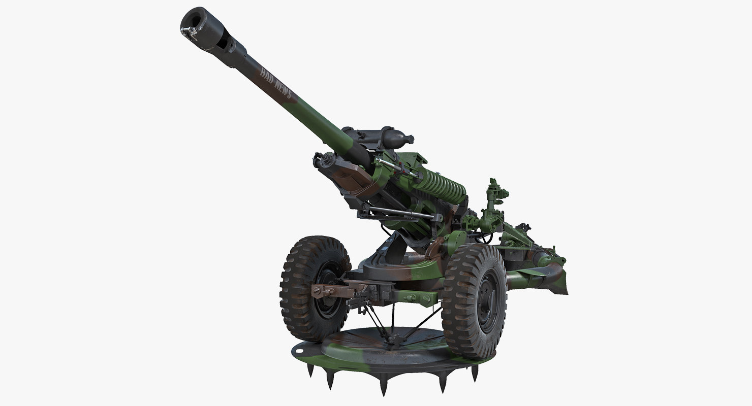 light field howitzer m119 3D