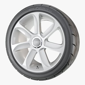 performance car wheel yokohama 3D model