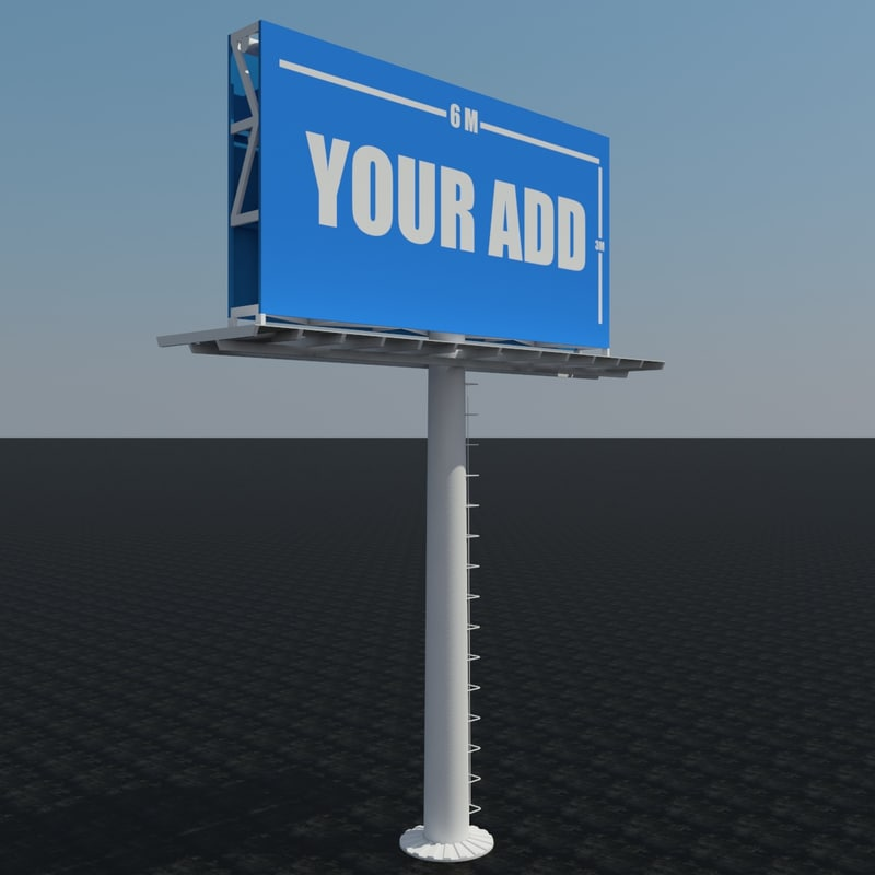 designed advertising billboard 3D