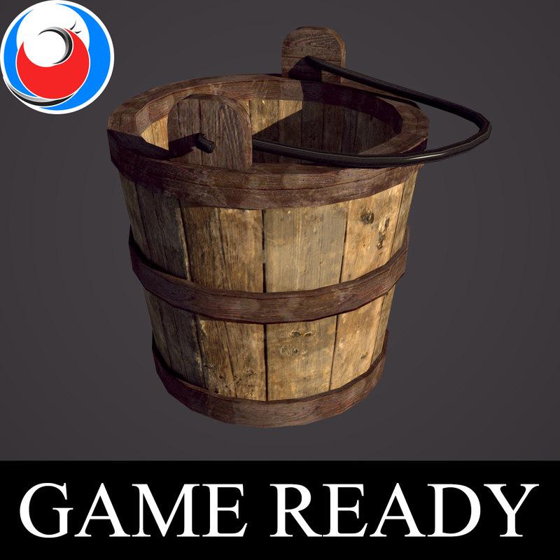 3D model medieval bucket