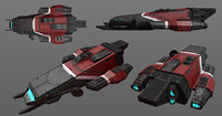 3D pbr spaceship