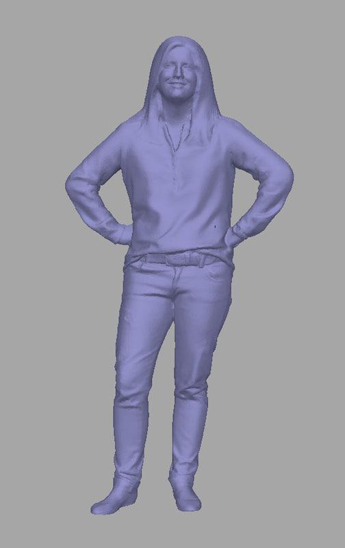 3D model scanned background